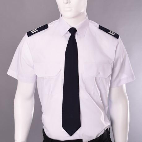 Koszula mundurowa biała z pagonami krótki rękaw