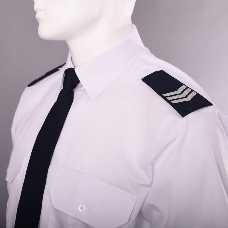 Koszula mundurowa biała z pagonami krótki rękaw MUNDUR.COM.PL  RlsAu