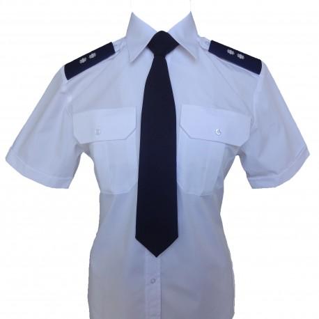 Koszula biała krótki rękaw - damska