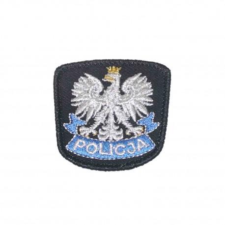 Emblemat na czapkę POLICJA czarny