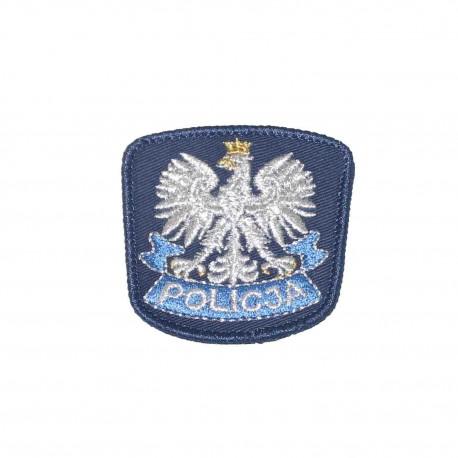 Emblemat na czapkę POLICJA granatowy