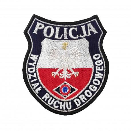 Emblemat POLICJA WYDZIAŁ RUCHU DROGOWEGO