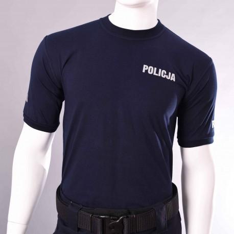 Koszulka t-shirt granatowa POLICJA