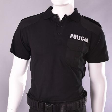 Koszulka polo czarna - męska