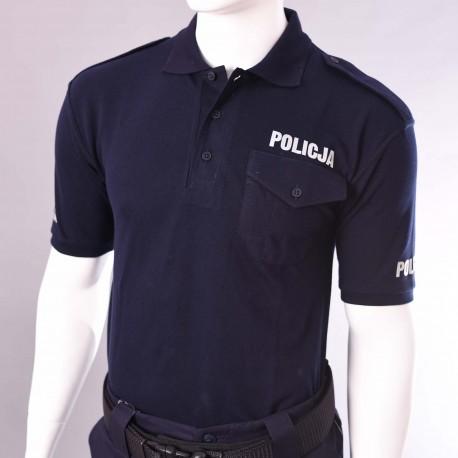 Koszulka polo granatowa Policja