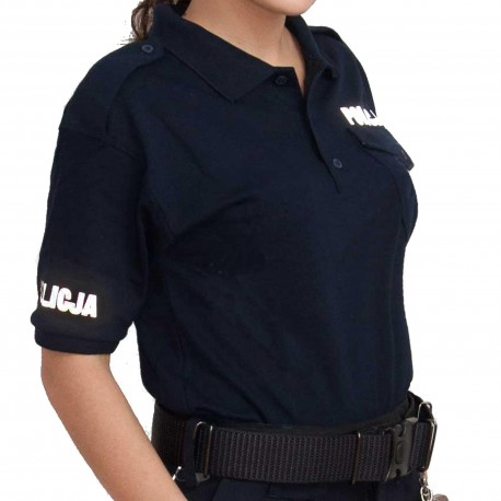 Koszulka polo granatowa - damska